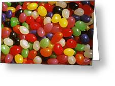 Close Up Of Jelly Beans Greeting Card