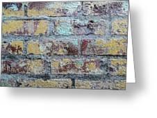 Close-up Of Old Brick Wall Greeting Card