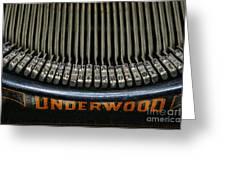 Close Up Of Vintage Typewriter Keys. Greeting Card