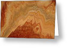 Close-up One Of Agate Seven From The Poured Agate Painting Collection Greeting Card