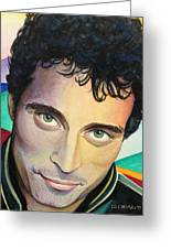 Close Up Portrait Rufus Sewell Greeting Card
