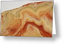 Close-up Two Of Agate Seven From The Poured Agate Painting Collection Greeting Card