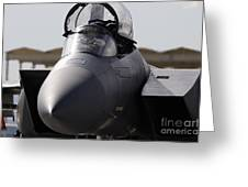 Close-up View Of A F-15c Eagle Greeting Card
