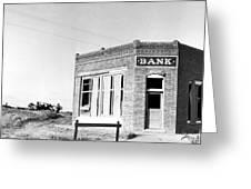 Closed Bank, 1936 Greeting Card
