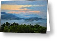 Closer To Heaven In The Blue Ridge Mountains Greeting Card