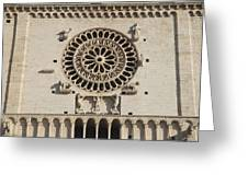 Closeup Of Assisi Cathedral Greeting Card