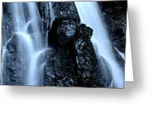 Closeup Waterfall Greeting Card