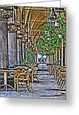 Cloth Hall Cafe In Krakow Greeting Card