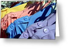 Clothes Street Sale Greeting Card