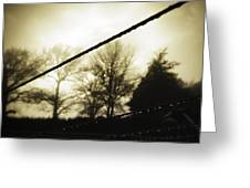 Clotheslines  Greeting Card by Les Cunliffe