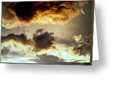 Golden Cloud Greeting Card