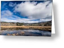 Cloud Above Dry Lagoon Greeting Card