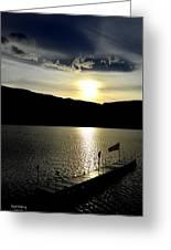 Cloud Chasing - Skaha Lake 4-2-2014  Greeting Card