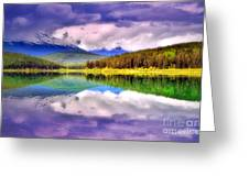 Cloud Cover On Lake Patricia Greeting Card