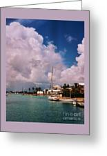 Cloud Faces Over St. George's, Bermuda Greeting Card