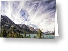 Cloud Formation At Saint Mary Lake Greeting Card