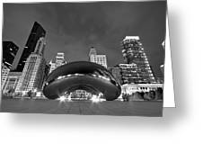 Cloud Gate And Skyline Greeting Card