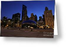 Cloud Gate Chicago At Sunset Greeting Card