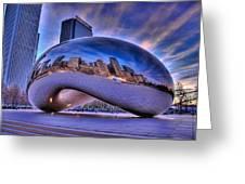 Cloud Gate Greeting Card by Jeff Lewis