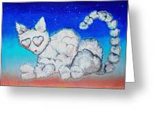 Cloud Kitty Greeting Card