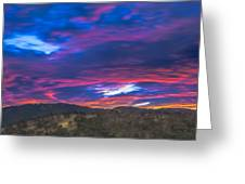 Cloud Movement At Sunset Greeting Card