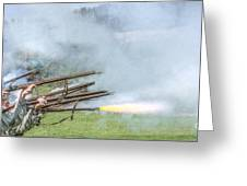 Cloud Of Smoke Volley Fire Greeting Card