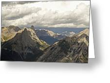 Cloud Over Rugged Mountain Peaks Banff Greeting Card