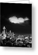 Cloud Over Seattle - Vertical Greeting Card