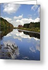 Autumn Lake Reflection Landscape Greeting Card
