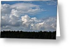 cloud scape sep 2014- Blue sky and clouds  Greeting Card