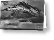 Cloud Smothered Peaks Greeting Card
