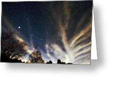 Cloud Tree In A Starry Sky Greeting Card