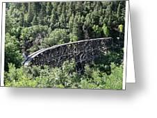 Cloudcroft Railroad Trestle Greeting Card