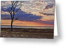 Clouding Up On Oyster Bay Greeting Card
