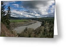 Clouds Above Eel River Greeting Card