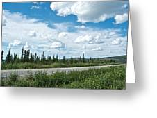 Clouds Above Taylor Highway To Chicken-ak Greeting Card