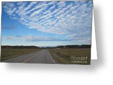 Clouds Along Newman Road Greeting Card