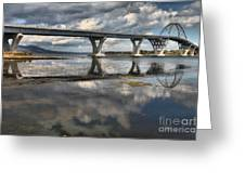 Clouds And Reflections Over Lake Champlain Greeting Card