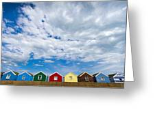 Clouds And Sheds Greeting Card