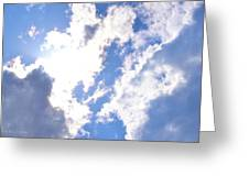 Clouds And Sunshine Greeting Card