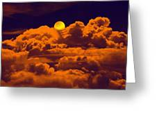 Clouds And The Moon Greeting Card