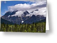 Clouds Around Mountains, Robson Greeting Card