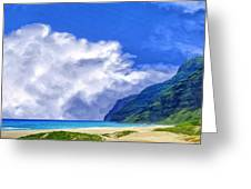 Clouds At Polihale Greeting Card
