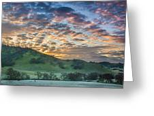 Clouds At Sunrise On A Frosty Morning Greeting Card