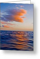 Clouds At Sunset - Racing Across The Water At Sunset Greeting Card