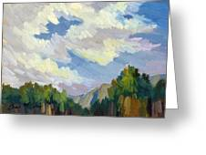 Clouds At Thousand Palms Greeting Card