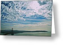 Clouds Dropping In Greeting Card