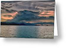 Clouds Explosion Greeting Card