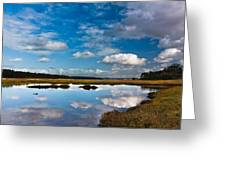 Clouds Flying Clouds Floating Greeting Card
