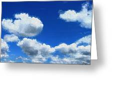 Clouds In A Blue Sky Greeting Card